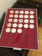 10 DM Silbermünzen - Sammlung komplett 1987 bis 1997, 23 Stück mit Lindner Box