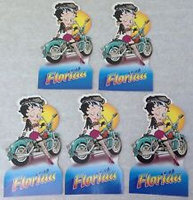Vintage Betty Boop Postcard BIKER Florida big1999 lot of 5 identical glossy