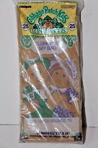 Vintage 1984 Cabbage Patch Kids Lunch Bags Set of 25