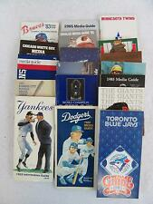 Lot of 18 BASEBALL MEDIA and INFORMATION GUIDES 1983 1985 Braves Yankees Reds