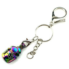 Key Chains Keychain Silver Plated Key Ring Clasp with Cake Beads Cage Y806