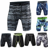 Men Sports Gym Compression Under Base Layer Shorts Pants Camo Athletic Tights