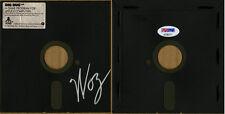 "Steve Woz Wozniak SIGNED Dig Dug 5.25"" Floppy Disk Apple II PSA/DNA AUTOGRAPHED"