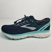 Brooks Ghost 11 Womens US Size 9.5 Medium B Navy Blue Teal Running Shoes