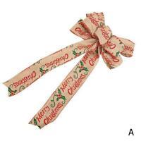 Christmas Bow Festival Xmas Tree Bowknot Decor Pendant Supply Holiday L6N8