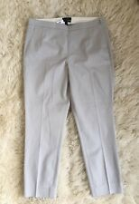 JCrew $90 Martie pants in bistretch cotton 10 Cloud Grey b8521 Suiting Work NWT
