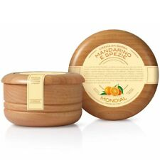 Mondial 1908 Italian Shaving Cream in Wooden Bowl Mandarine & Spices Luxury Frag