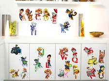 26 Letter Vinyl Decal Decor DIY Paw Patrol Wall Stickers Removable uk