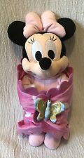 Disney Babies Plush Pink Minnie Mouse & Blanket Lovey Toy