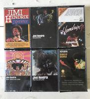 Vintage Cassettes Jimi Hendrix Lot of 6 Rock Cassette Tapes + Imports + Rare