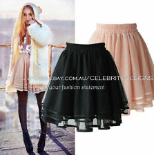 Mesh Hand-wash Only Solid Regular Size Skirts for Women