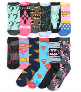 DC Comics 12 Days of Socks Womens Crew and No Show Authentic New in Gift Box