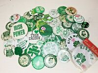 VTG St. Patrick's Day/Irish Pinback Buttons Lot of 43 / 1960s-90 (mostly 80s)