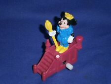 """Vintage Disney Parade Mickey Mouse White Knob Windup Toy by Burger King 1991 2½"""""""