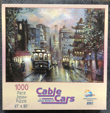 "Cable Cars -1000 Pc - 27"" X 20"" Jigsaw Puzzle Artwork by James Behlen Jr.JB35812"