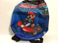 Nintendo Wii Mariokart Drawstring Backpack Bag 2012