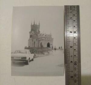 1993 Old Photo The Swallow's Nest Castle near Gaspra Republic of Crimea 9x12 cm