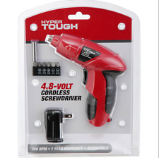 Handy 4.8V Cordless Screwdriver Power Tool with Bits, Driver and AC Charger