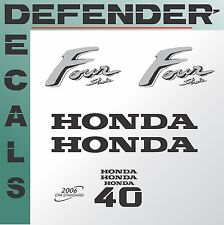 Honda 40 hp Four Stroke outboard engine decal sticker set kit reproduction 40HP