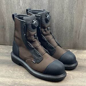 """Red Wing 2491 Men's Sz 13 Maxbond 8"""" BOA Safety Toe Boot Waterproof Brown Black"""