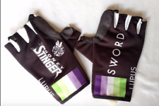 New 2016 Men's Biemme Lupus Pro Cycling Race Gloves, Black, Size Small