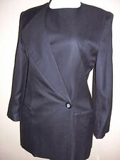 OLEG CASSINI 3pc Vintage Navy Career Business Pantsuit Jacket Skirt Pants Sz 10