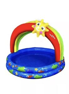 "Banzai Jr Rainbow Shade 38"" Pool 18+ months One Set Included Blue Red Summer"