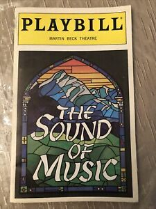 THE SOUND OF MUSIC May 1998 Broadway COLOR Playbill! REBECCA LUCKER Jan Maxwell