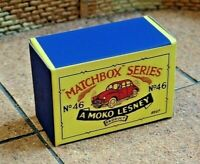 LESNEY MATCHBOX MOKO NO.46A MORRIS MINOR 1000 CUSTOM DISPLAY/STORAGE BOX ONLY