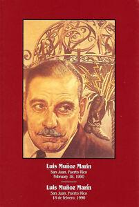 #2173 First Day Ceremony Program 5c Luis Munoz Martin Stamp