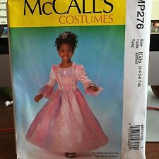 McCalls MP276 Girls Princess Halloween costume dress up outfit size 3-8 uncut