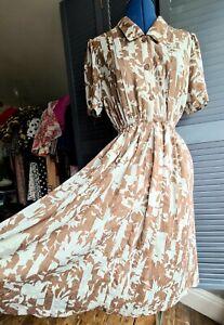 Vintage 1980s Shirt Dress, Size 12-14