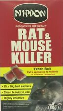 RAT MOUSE RODENT KILLER POISON BAIT BOX OF 15 SACHETS NIPPON EASY TO USE