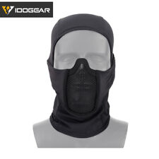 IDOGEAR Máscara táctica de pasamontañas MALLA Airsoft Mask Full Face Paintball