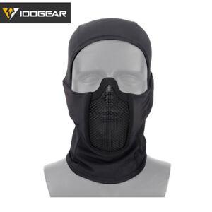 IDOGEAR Airsoft Mask Tactical Full Face Mask Face Guard Balaclava Mask MESH Army