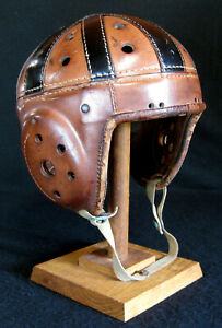 SWEET Old Antique 1930's Wilson Model F2150 Leather Football Helmet Vintage LQQK