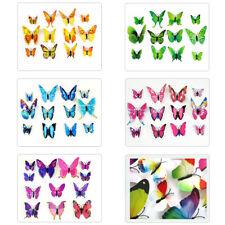 72 pcs 3D Butterfly Sticker Art Design Decal Wall Decals Kids Home Decor Magnet