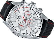 Nuevo Reloj con Cronógrafo Lorus para caballero con correa de cuero negro RT391FX9 PVP: £ 140