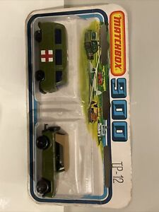 Matchbox Tp-12 Field Car And Volkswagen Unopened On Card