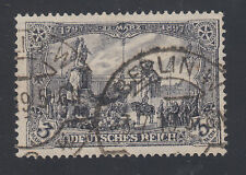 Germany Sc 94c used. 1905-19 3m violet gray Kaiser'sMemorial, 26x17 holes, Cert.
