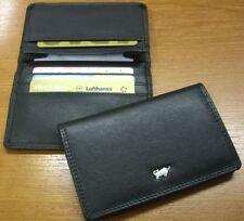 Original Braun Büffel Geldbörse & Visitenkartenetui aus schwarzem Leder NEU /OVP