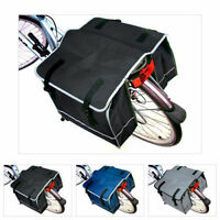 DOUBLE BICYCLE CYCLE PANNIER BAG REAR BIKE RACK CARRIER WATER RESISTANT