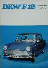 Auto Union DKW F12 Sales Brochure