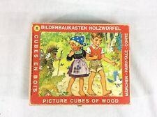 Vintage Eichhorn Bilderbaukasten Holzwurfel Picture Cubes of Wood Fairy Tales