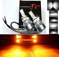 LED Kit C6 72W PS19W 12085 5201 Orange Amber Two Bulbs Daytime Light DRL Upgrade