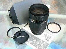 NIKON AF NIKKOR 70-210MM F4-5.6 LENS WITH TWO HOYA FILTERS & CASE *MINT