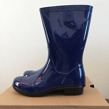 UGG Kids Girls Youth Size 4 Raana Rubber Rain Boots Waterproof Blue Jay 1014340K