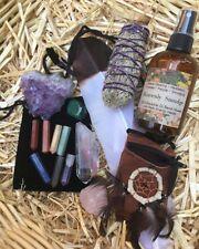 15 Pcs Healing Crystal Set, Smudge Kit,Terminated Pencil Set,Meditation Kit