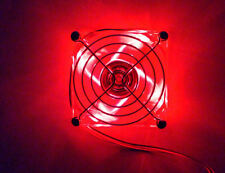 80x80x25mm Quad Red LED Fan (B,G,R,Y) w/ Fan Guard