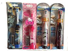 Star Wars,Hello Kitty Batman Battery Powered Toothbrush Age 2-6yrs Soft New